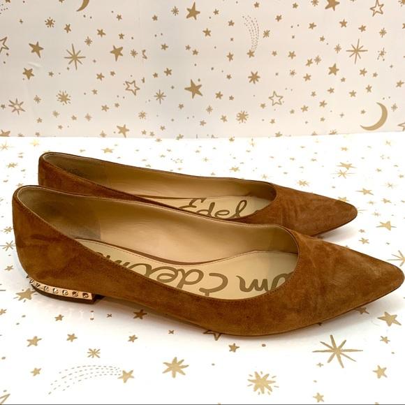 cc5c79836 Sam Edelman Shoes | Brown Reyanne Suede Spiked Flats 95 | Poshmark